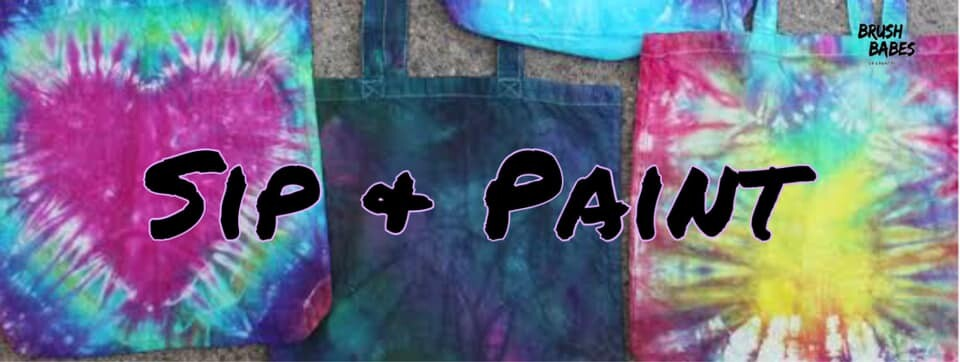 Sip and Paint Tie Dye Tote Bags